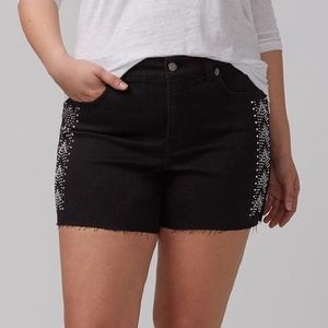 EUC Melissa McCarthy Seven7 Embellished Shorts